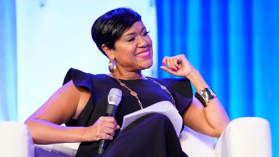 Tiffany D. Cross of The Beat DC speaks on stage during Texas Conference For Women 2019 at Austin Convention Center on October 24, 2019 in Austin, Texas.