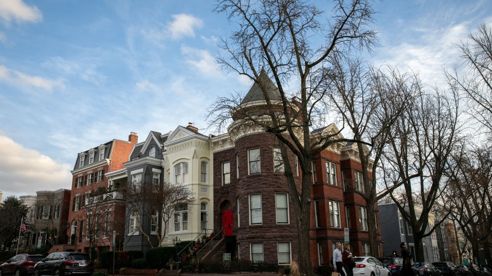 Homes in the Georgetown neighborhood of Washington, D.C. on January 11, 2020.