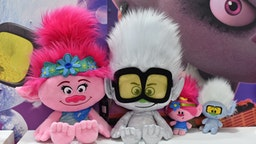 LONDON, ENGLAND - JANUARY 21: Dreamworks Trolls World Tour soft toys on display during the Toy Fair at Olympia London on January 21, 2020 in London, England. The Toy Fair is the UK's largest dedicated toy, game and hobby trade show welcoming more than 270 companies exhibiting thousands of products. (Photo by John Keeble/Getty Images)