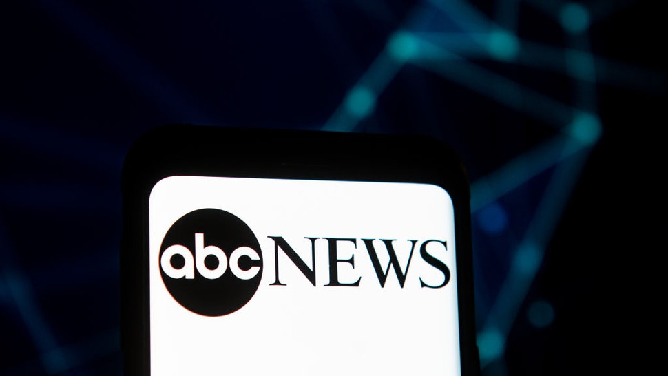 In this photo illustration an abc News logo seen displayed on a smartphone.