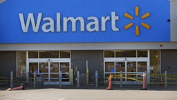 A Walmart store in Quincy, MA, pictured on May 5, 2020, has now closed after a worker died due to COVID-19.
