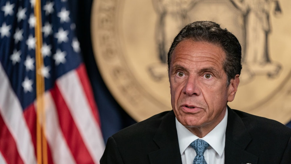 New York Gov. Andrew Cuomo speaks during the daily media briefing at the Office of the Governor of the State of New York on July 23, 2020 in New York City.