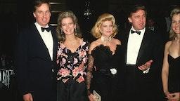 Donald Trump, Ivana Trump, Robert Trump and Blaine Trump at the Rainbow Room in New York City.