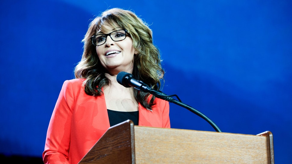ormer Alaska Governor and 2008 Republican party Vice Presidential nominee Sarah Palin addresses the audience at the 2016 Western Conservative Summit in Denver, Colorado on July 1, 2016. / AFP / Jason Connolly (Photo credit should read JASON CONNOLLY/AFP via Getty Images)