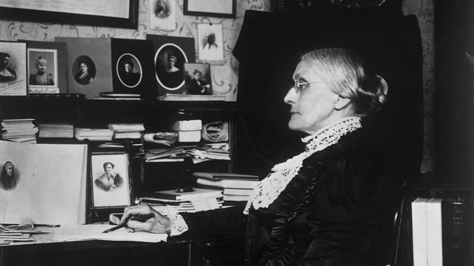 Susan B. Anthony (1820-1906), organizer of the first women's temperance association and president of the Woman Suffrage Association from 1892-1900. (Photo by © CORBIS/Corbis via