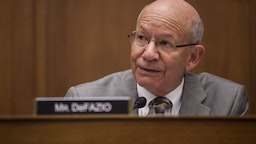 Representative Peter DeFazio, a Democrat from Oregon and ranking member of the House Transportation and Infrastructure Committee