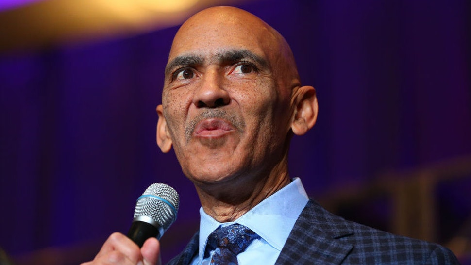 Tony Dungy speaks during the Bart Starr Award during Super Bowl LII week on February 3, 2018, at the Hilton, in Minneapolis, MN.