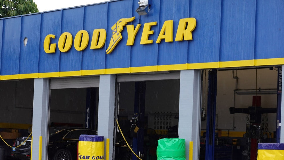 A Goodyear store is seen on August 19, 2020 in Miami, Florida. President Donald Trump called for a boycott against Goodyear in reaction to a social media post that was purportedly from a company training session, that deemed MAGA attire unacceptable for the workplace. In a statement, the Goodyear company denied that the company's corporate headquarters had anything to do with the post, and said it wasn't related to any company training session. It said all political campaigning is discouraged in the workplace, and that it supports equality and law enforcement. (Photo by Joe Raedle/Getty Images)