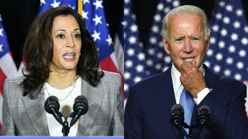 Democratic vice presidential running mate, US Senator Kamala Harris, speaks to the press after receiving a briefing on COVID-19 in Wilmington, Delaware, on August 13, 2020.