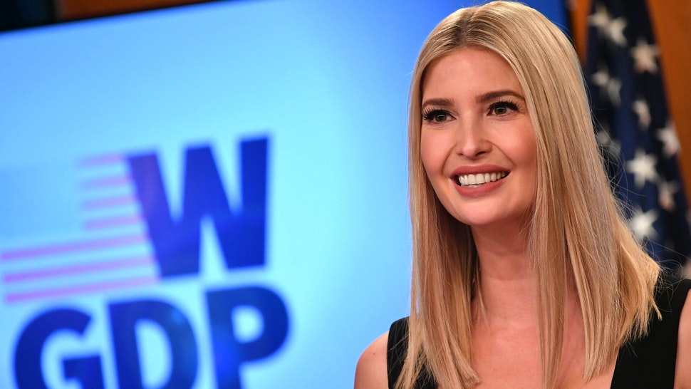 Advisor to the President Ivanka Trump speaks during an event for the W-GDP, Global Womens Development and Prosperity Initiative plan, at the State Department in Washington, DC on August 11, 2020.