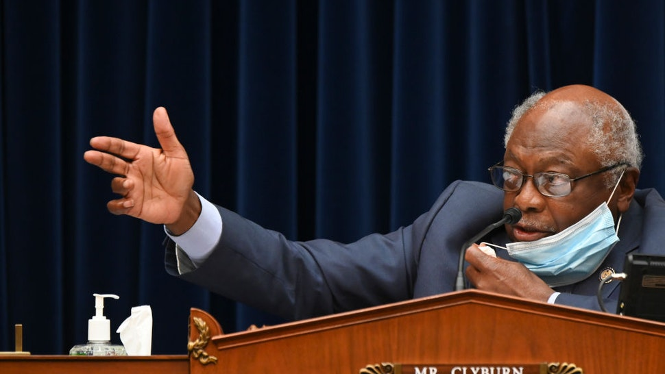 WASHINGTON, DC - JULY 31: Chairman of the House Select Subcommittee on the Coronavirus Crisis House Majority Whip James Clyburn (D-SC) speaks during a hearing on July 31, 2020 in Washington, DC. Trump administration officials are set to defend the federal government's response to the coronavirus crisis at the hearing hosted by a House panel calling for a national plan to contain the virus. (Photo by Erin Scott-Pool/Getty Images)