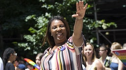 New York State Attorney General Letitia James marches at the annual Pride Parade on Sunday, June 29, 2019 in New York, NY. This years annual Pride Parade celebrates the 50th Anniversary of the Stonewall Uprising and a half-century of LGBTQ+ liberation.