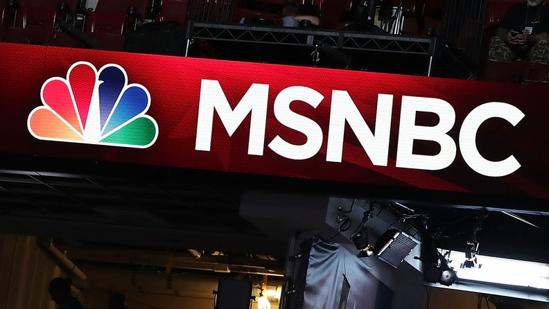 PHILADELPHIA, PA - JULY 24: A booth of NBC News and MSNBC is seen at the Wells Fargo Center on July 24, 2016 in Philadelphia, Pennsylvania. The Democratic National Convention opens July 25.