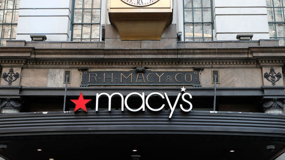Macys logo is seen on one of their branches. (Photo by John Lamparski/SOPA Images/LightRocket via Getty Images)