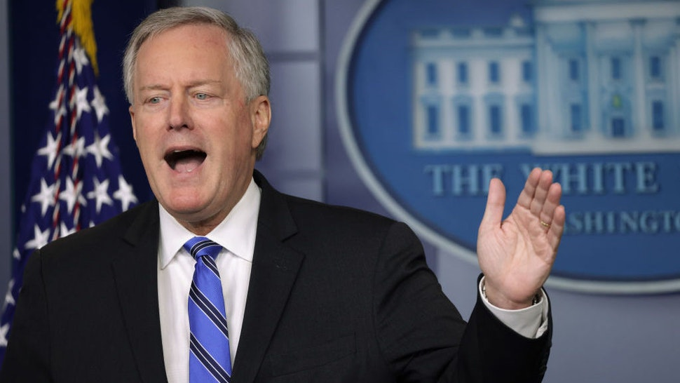 WASHINGTON, DC - JULY 31: White House Chief of Staff Mark Meadows speaks during a news briefing in the James Brady Press Briefing Room of the White House July 31, 2020 in Washington, DC. Meadows spoke on the new COVID-19 stimulus package that is being negotiated on Capitol Hill. (Photo by Alex Wong/Getty Images)