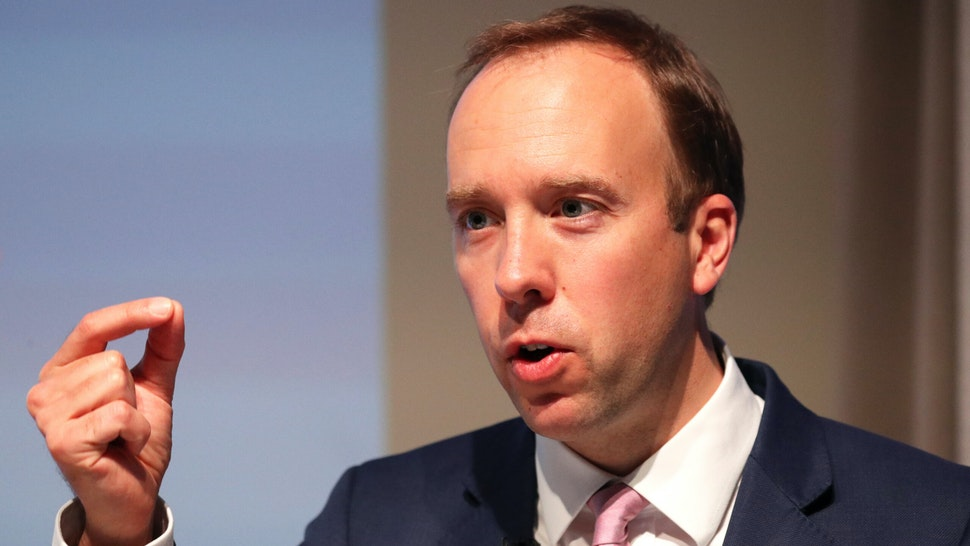 Health Secretary Matt Hancock delivers a speech on the future of the NHS at the Royal College of Physicians in central London.