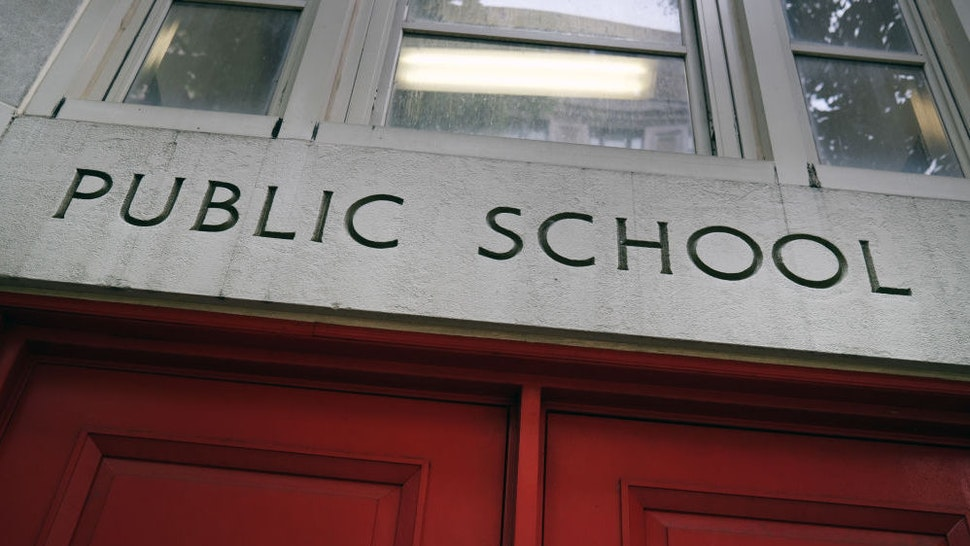 A public school stands on the Upper East Side on August 07, 2020 in the Manhattan borough of New York City. Due to the low COVID-19 infection rates reported in the city, New York Governor Andrew Cuomo announced Friday that all New York school districts may reopen this fall. [Photo by Spencer Platt/Getty Images)