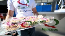 LOS ANGELES, CA - AUGUST 13: Quiznos cookies sampled to Pandora listeners during Pandora Summer Crush at LA Live on August 13, 2016 in Los Angeles, California.