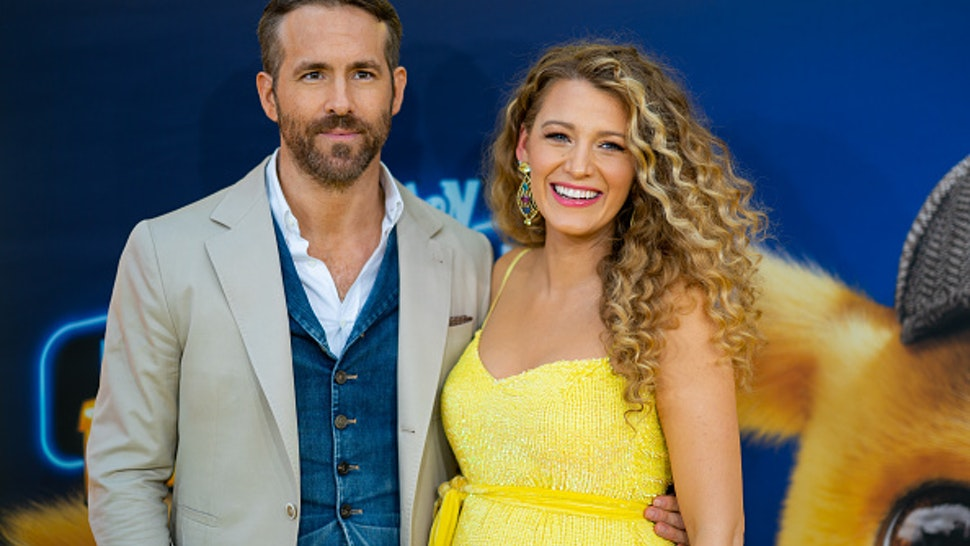 NEW YORK, NEW YORK - MAY 02: Blake Lively and Ryan Reynolds attend the 'Pokemon Detective Pikachu' U.S. Premiere at Times Square on May 02, 2019 in New York City.