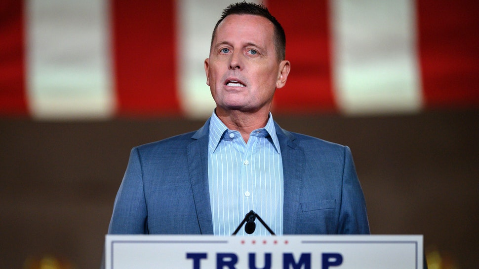 Former US ambassador to Germany, Richard Grenell, addresses the Republican National Convention in a pre-recorded speech at the Andrew W. Mellon Auditorium in Washington, DC, on August 26, 2020.