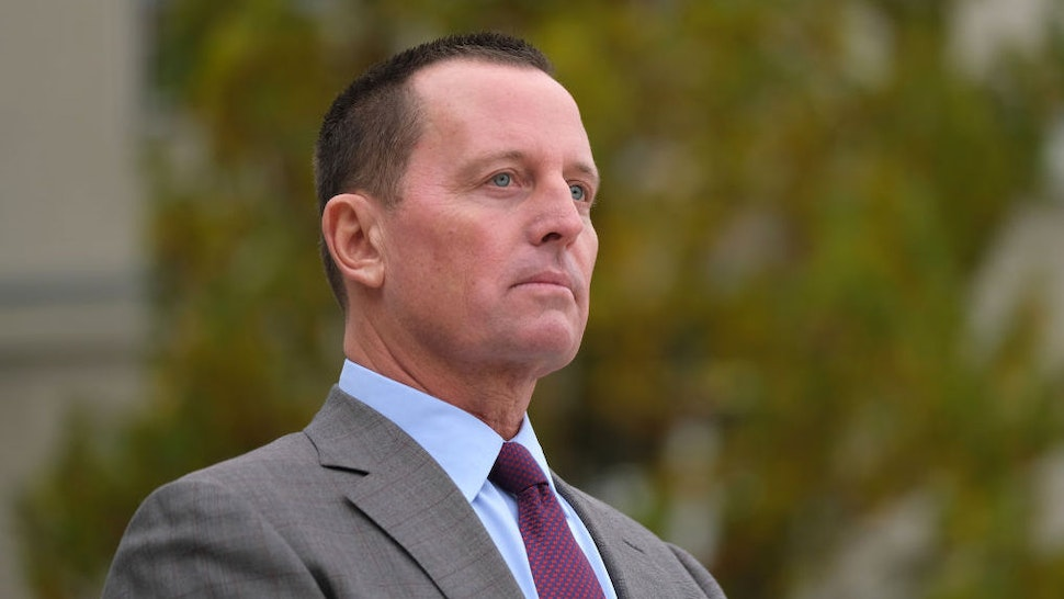 BERLIN, GERMANY - NOVEMBER 08: U.S. Ambassador to Germany Richard Grenell waits for the arrival of U.S. Secretary of State Mike Pompeo for talks with German Defense Minister Annegret Kramp-Karrenbauer at the Federal Defense Ministry on November 08, 2019 in Berlin, Germany. Pompeo is on a two-day visit to Germany ahead of the 30th anniversary of the fall of the Berlin Wall.