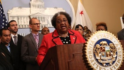 California State Assemblymember Shirley Weber (D-San Diego) speaks during a news conference to announce new legislation to address recent deadly police shootings on April 3, 2018 in Sacramento, California. (Photo by Justin Sullivan/Getty Images)