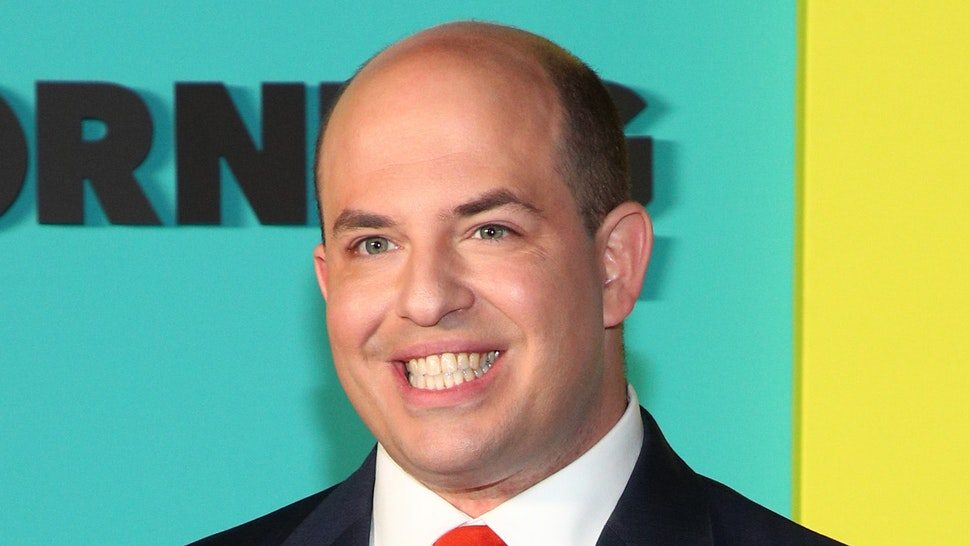 "NEW YORK, NEW YORK - OCTOBER 28: Brian Stelter attends the Apple TV+'s ""The Morning Show"" World Premiere at David Geffen Hall on October 28, 2019 in New York City."