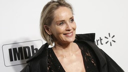 Actress Sharon Stone attends the 28th Annual Elton John AIDS Foundation Academy Awards Viewing Party on February 9, 2020 in West hollywood, California.