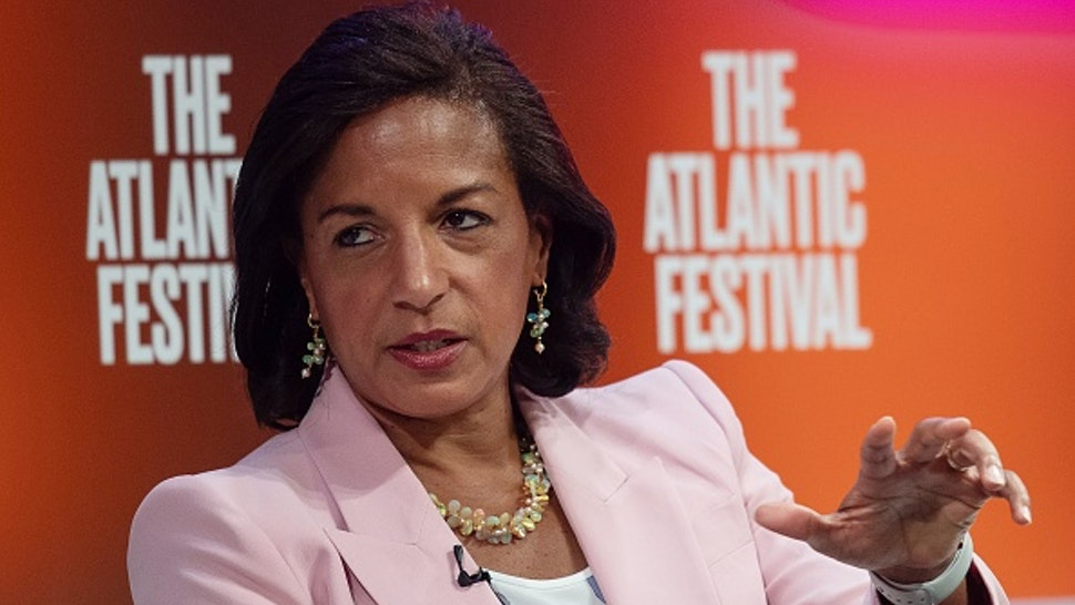 Former National Security Advisor Susan Rice speaks at the Atlantic Festival in Washington, DC, on September 25, 2019.