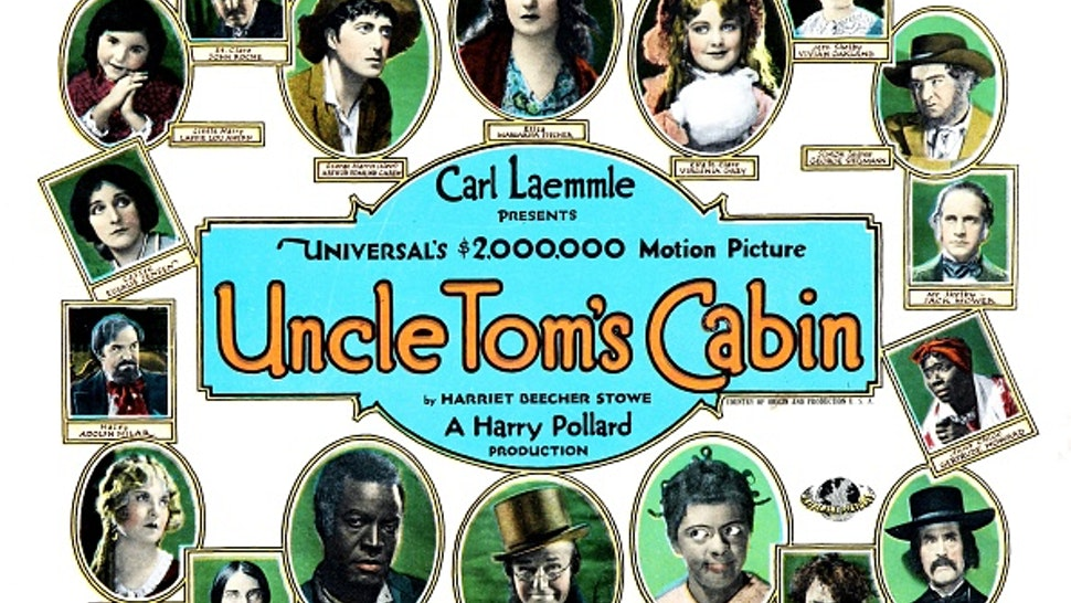 Uncle Tom's Cabin, poster, James B. Lowe, George Siegmann, Virginia Grey, etc, poster art, 1927.