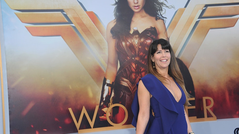 """HOLLYWOOD, CA - MAY 25: Director Patty Jenkins arrives for the Premiere Of Warner Bros. Pictures' """"Wonder Woman"""" held at the Pantages Theatre on May 25, 2017 in Hollywood, California."""