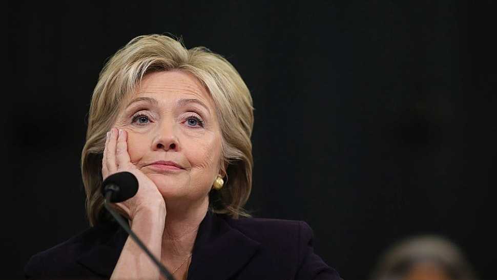 WASHINGTON, DC - OCTOBER 22: Democratic presidential candidate and former Secretary of State Hillary Clinton testifies before the House Select Committee on Benghazi October 22, 2015 on Capitol Hill in Washington, DC. The committee held a hearing to continue its investigation on the attack that killed Ambassador Chris Stevens and three other Americans at the diplomatic compound in Benghazi, Libya, on the evening of September 11, 2012. (Photo by