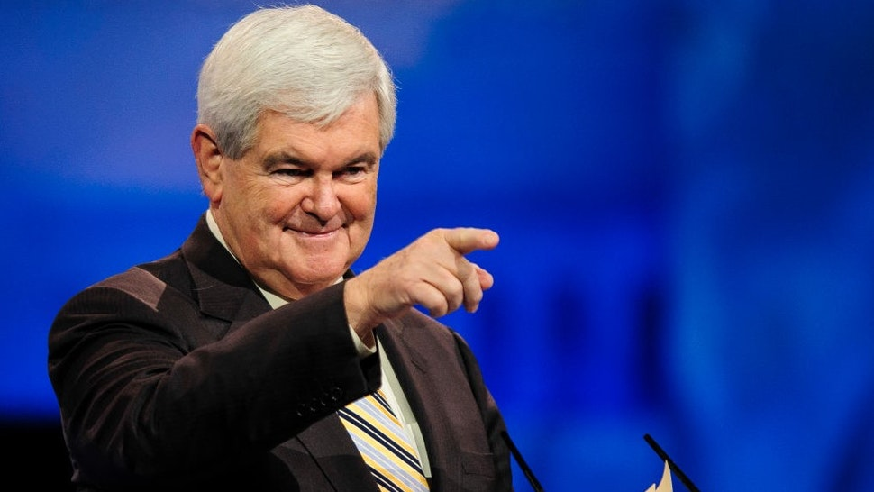 NATIONAL HARBOR, MD - MARCH 16: Newt Gingrich, former presidential candidate and Speaker of the U.S. House of Representatives, speaks at the 2013 Conservative Political Action Conference (CPAC) March 16, 2013 in National Harbor, Maryland. The American Conservative Union held its annual conference in the suburb of Washington, DC to rally conservatives and generate ideas. (Photo by