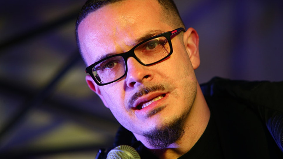 SEATTLE, WA - MARCH 08: Shaun King, a Black Lives Matter leader and writer for the New York Daily News, speaks a rally at Westlake Center on March 8, 2017 in Seattle, Washington. The rally was co-hosted by Seattle City Councilmember Kshama Sawant and Socialist Students USA in honor of International Women's Day, to stand up for reproductive rights and economic equality for women.
