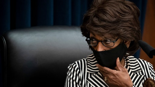 WASHINGTON, DC - JULY 30: Committee chairwoman Rep. Maxine Waters (D-CA) arrives for a House Financial Services Committee hearing regarding the Consumer Financial Protection Bureau in the Rayburn House Office Building on Capitol Hill July 30, 2020 in Washington, DC. (Photo by