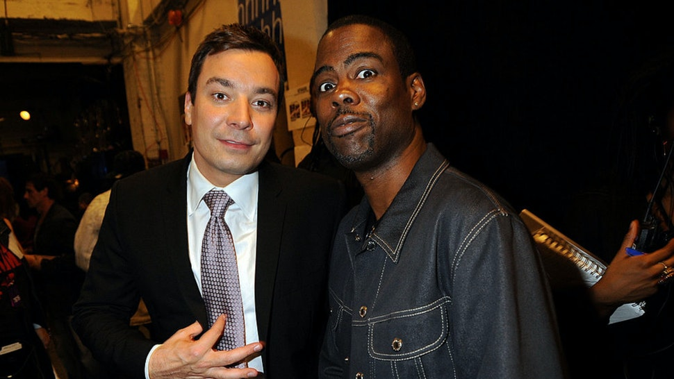 Actors (L-R) Jimmy Fallon and Chris Rock attend the 2009 VH1 Hip Hop Honors at the Brooklyn Academy of Music on September 23, 2009 in the Brooklyn borough of New York City.