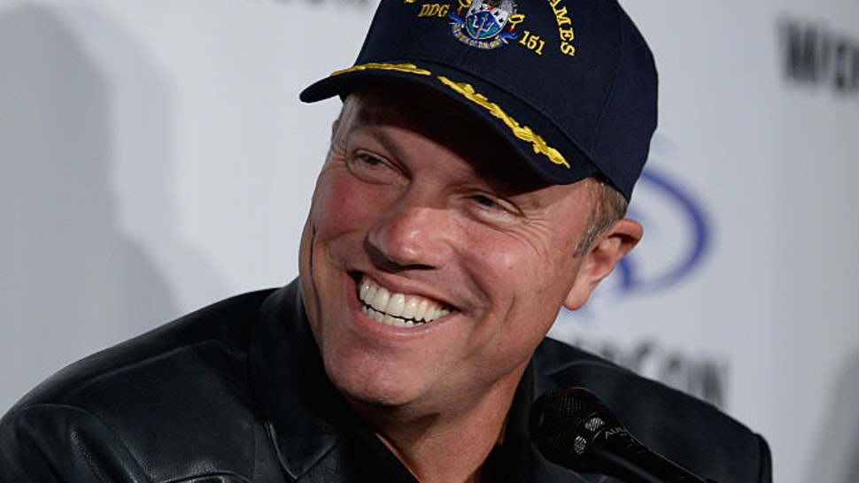 Actor Adam Baldwin speaks on 'The Last Ship' panel, TNT at Wondercon 2016 at Los Angeles Convention Center on March 26, 2016 in Los Angeles, California. 26059_001 (Photo by Frazer Harrison/Getty Images for Turner)
