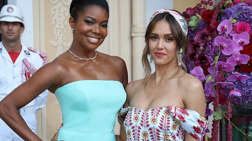 MONACO, MONACO - JUNE 16: Gabrielle Union and Jessica Alba attend a cocktail during the 59th Monte Carlo TV Festival on June 16, 2019 in Monaco, Monaco.