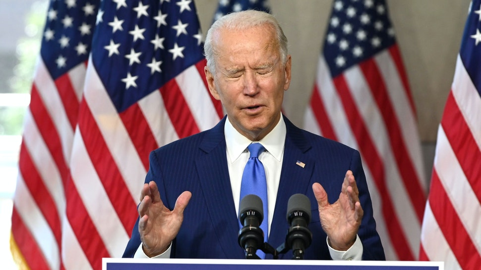 Democratic presidential nominee and former Vice President Joe Biden speaks at the National Constitution Center in Philadelphia, Pennsylvania on September 20, 2020, to make a statement on the nomination for replacement of recently deceased Supreme Court Justice Ruth Bader Ginsburg. - US presidential hopeful Joe Biden urged Senate lawmakers to not vote on filling the Supreme Court vacancy left by Ruth Bader Ginsburg's death until after the election in November.