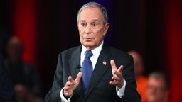 MANASSAS, VA - MARCH 02: Democratic presidential candidate, former New York City mayor Mike Bloomberg speaks during a Fox News town hall held at the Hilton Performing Arts Center at George Mason on March 2, 2020 in Manassas, VA. Mr. Bloomberg appeared in the FOX News Town Hall co-moderated by Special Report's Bret Baier alongside The Story's Martha MacCallum the evening before voting starts on Super Tuesday.