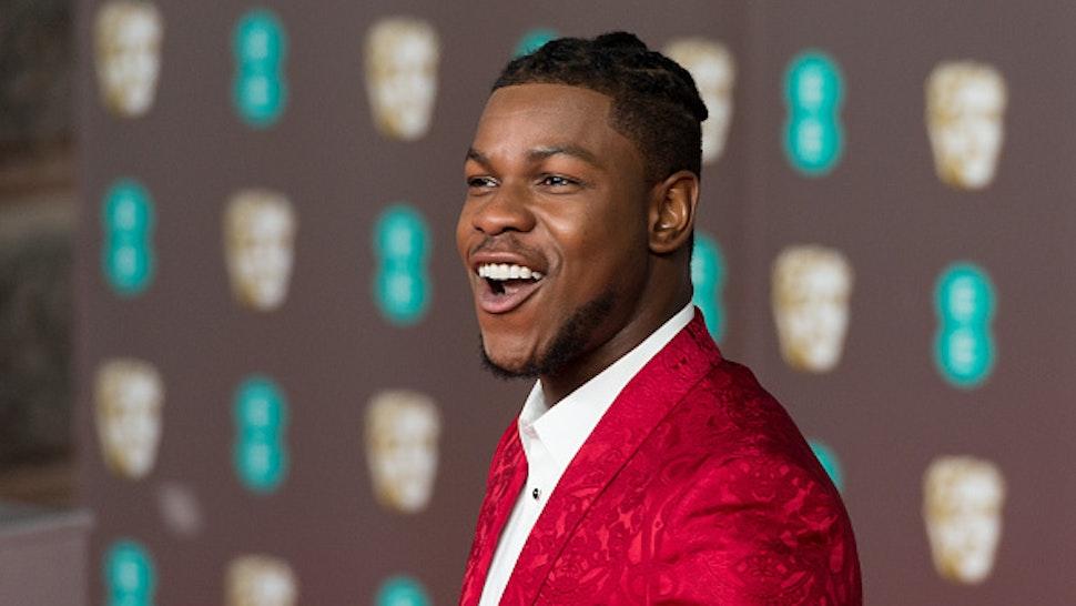 LONDON, UNITED KINGDOM - FEBRUARY 02, 2020: John Boyega attends the EE British Academy Film Awards ceremony at the Royal Albert Hall on 02 February, 2020 in London, England.-