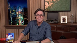NEW YORK - AUGUST 26: The Late Show with Stephen Colbert during Tuesday's August 25, 2020 show. The Late Show will broadcast LIVE during the Republican National Convention. Image is a screen grab.