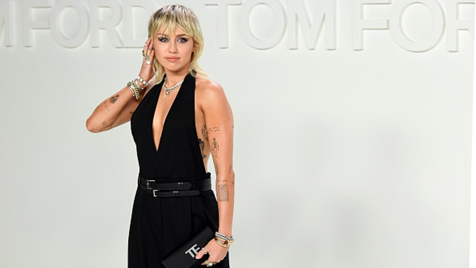 HOLLYWOOD, CALIFORNIA - FEBRUARY 07: Singer Miley Cyrus attends the Tom Ford AW20 Show at Milk Studios on February 07, 2020 in Hollywood, California.