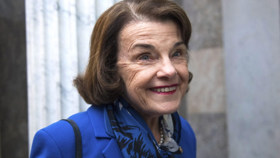UNITED STATES - FEBRUARY 12: Sen. Dianne Feinstein, D-Calif., seen before the Senate Policy luncheons on Tuesday, February 12, 2019.