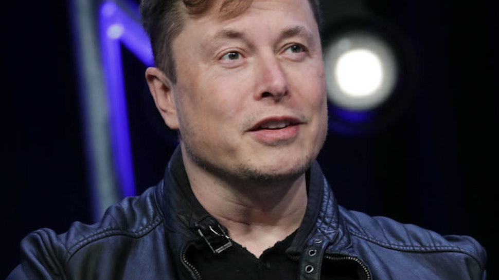 WASHINGTON DC, USA - MARCH 9: Elon Musk, Founder and Chief Engineer of SpaceX, speaks during the Satellite 2020 Conference in Washington, DC, United States on March 9, 2020.