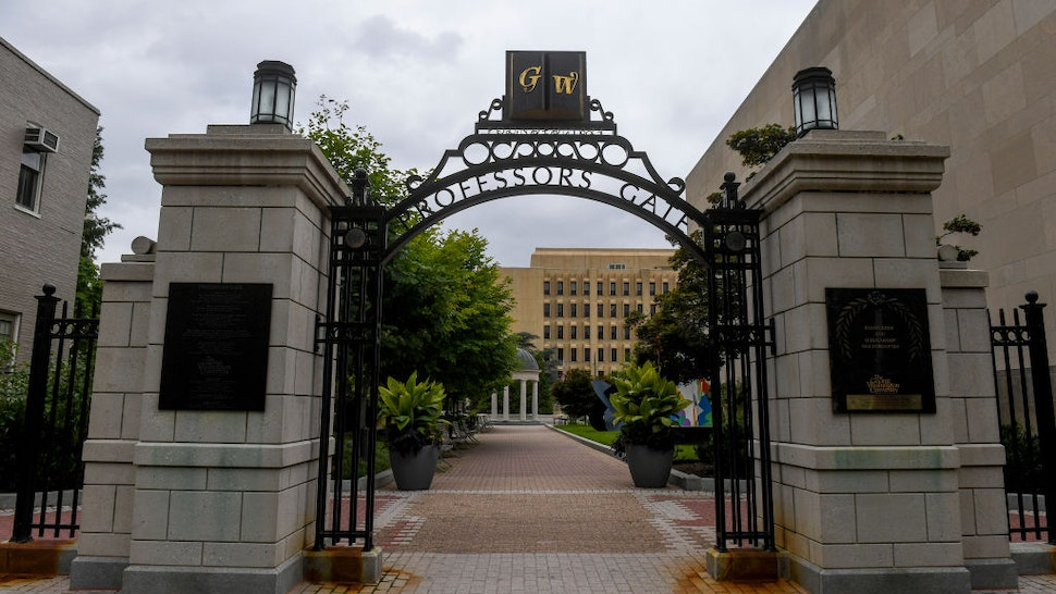 WASHINGTON, DC - AUGUST 8: George Washington University amended its plans to host classes for the fall as novel coronavirus cases continue to rise across the country.