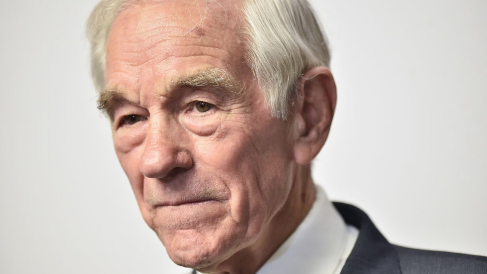 Texas Congressman Ron Paul attends Consensus 2019 at the Hilton Midtown on May 13, 2019 in New York City.