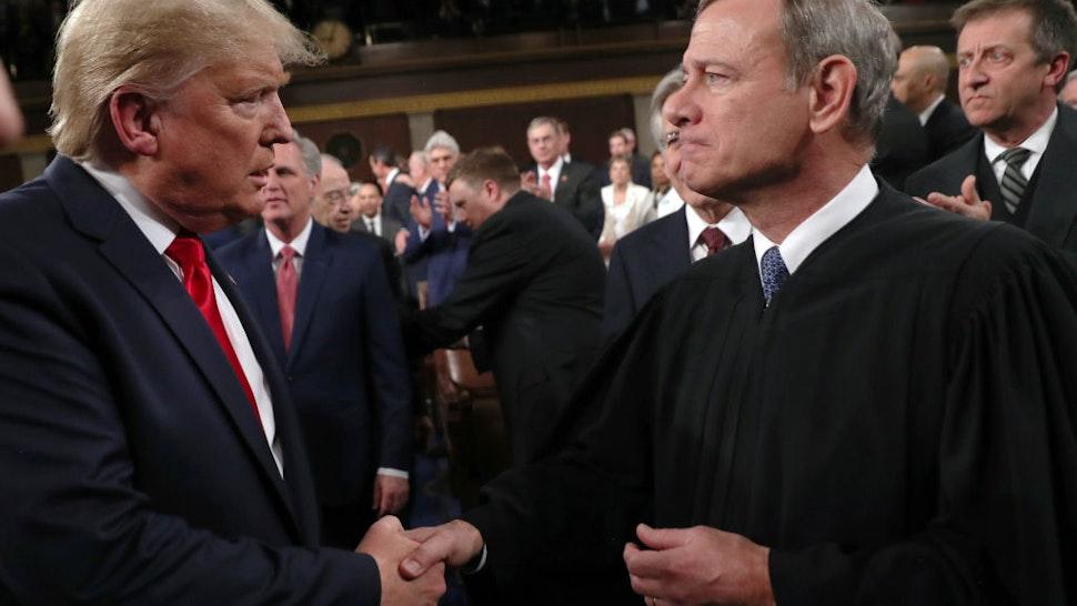 Trump and John Roberts