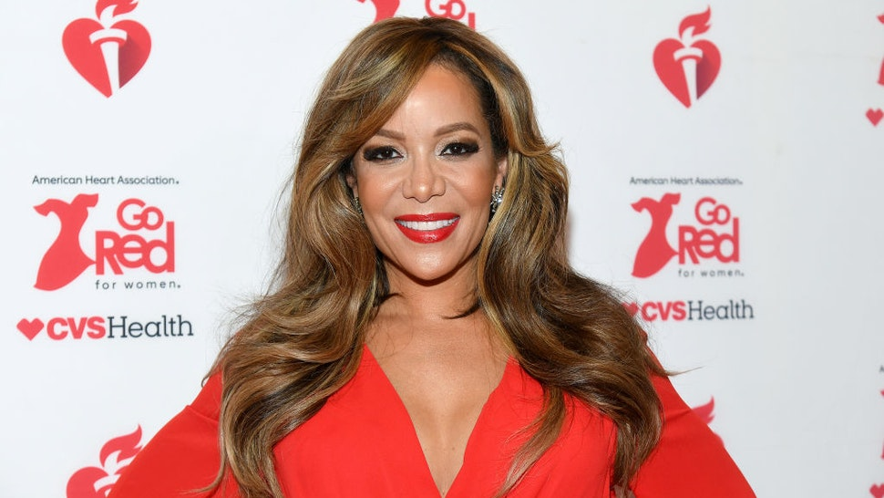 Sunny Hostin attends The American Heart Association's Go Red for Women Red Dress Collection 2020 at Hammerstein Ballroom on February 05, 2020 in New York City.