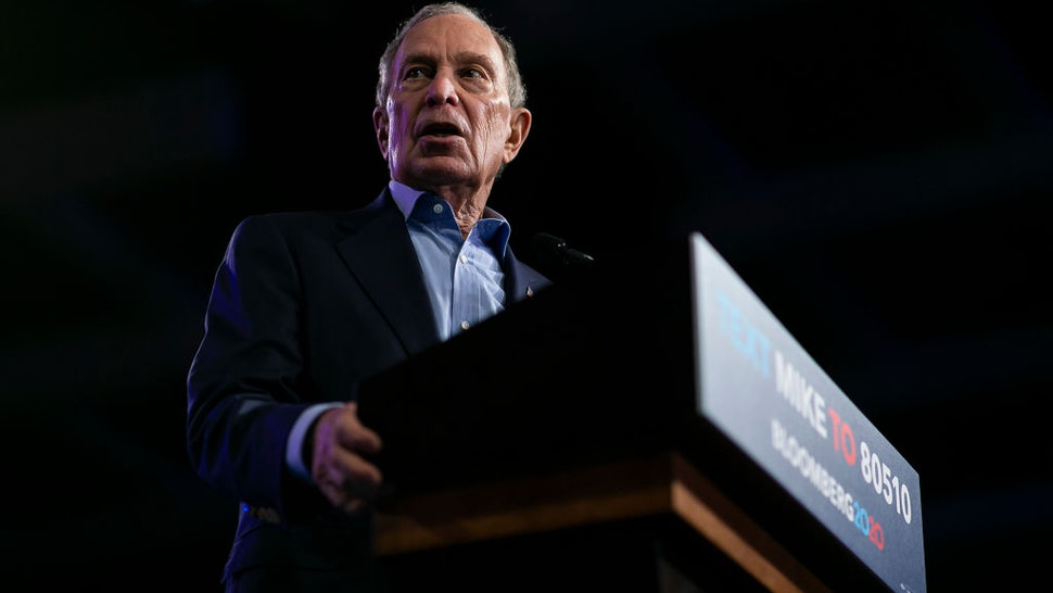 Democratic presidential candidate Mike Bloomberg speaks during a campaign rally at the Palm Beach County Convention Center in West Palm Beach, Fla., on Tuesday, March 3, 2020.